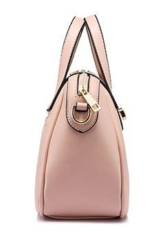 Casual Stylish Pink Chic Satchel Bag - Side View