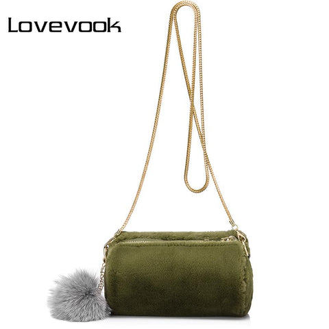 LOVEVOOK Cute Clutch with Furball - BagPrime - Look Your Best with Amazing Bags