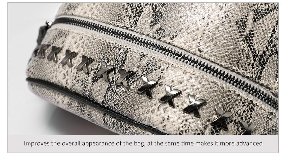 LOVEVOOK Snake Print Backpack - BagPrime - Look Your Best with Amazing Bags