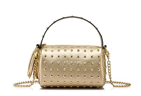 Casual Stylish Gold STUDDED CROSSBODY BAG - Back View