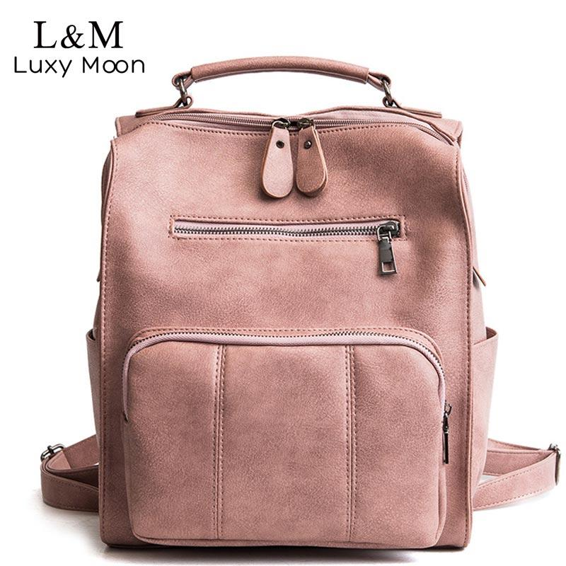 LUXY MOON Cute Leather Backpack