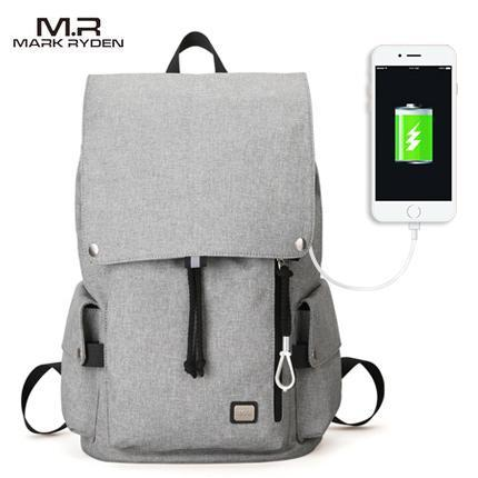MARK RYDEN Cool USB Charging Backpack-bag-BagPrime - Global Prime Bag Fashion Platform-Gray USB-China-15inches-BagPrime - Global Prime Bag Fashion Platform