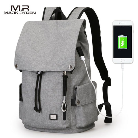 MARK RYDEN Cool USB Charging Backpack-bag-BagPrime - Global Prime Bag Fashion Platform-Black USB-China-15inches-BagPrime - Global Prime Bag Fashion Platform