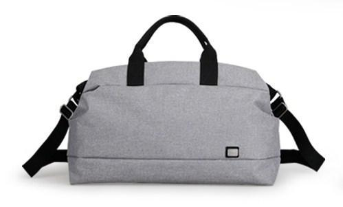 casual stylish Grey Canvas Travel Bag - Front view