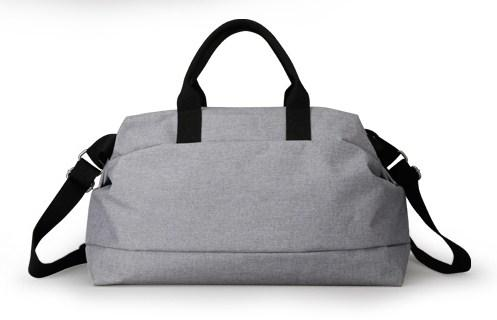 casual stylish Grey Canvas Travel Bag - Back view