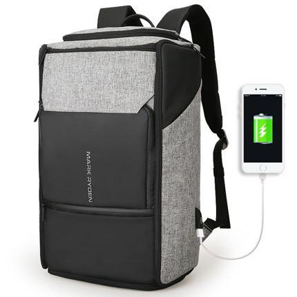 MARK RYDEN Modern USB Charging Backpack-bag-BagPrime - Global Prime Bag Fashion Platform-Grey USB-China-17.3 Inches-BagPrime - Global Prime Bag Fashion Platform