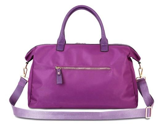 Casual Stylish Purple Chic Travel Bag- Back View