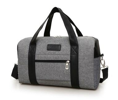 Casual Stylish Grey Modern Cool Duffel Bag - Side View