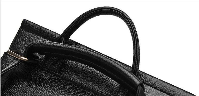 Casual Stylish Black MODERN EDGY BACKPACK- Top View