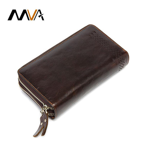 MVA Zipped Leather Wallet - BagPrime - Look Your Best with Amazing Bags