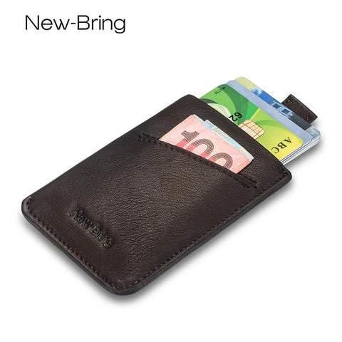 NEWBRING Classic Leather Credit Card Holder - BagPrime - Look Your Best with Amazing Bags