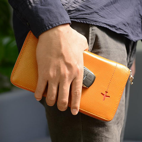 NEWBRING Zipped Leather Wallet - BagPrime - Look Your Best with Amazing Bags