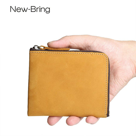NEWBRING Zipped Vintage Wallet - BagPrime - Look Your Best with Amazing Bags