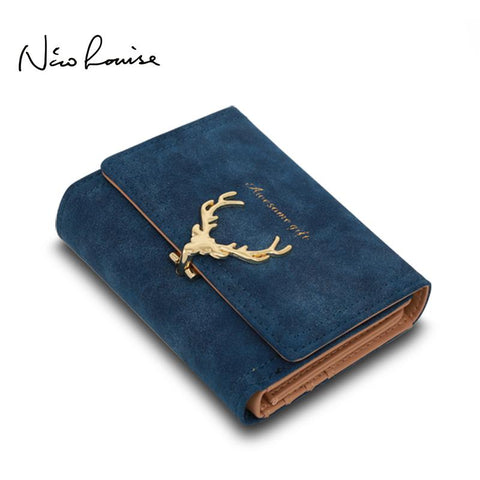 NICO LOUISE Deer Design Suede Wallet