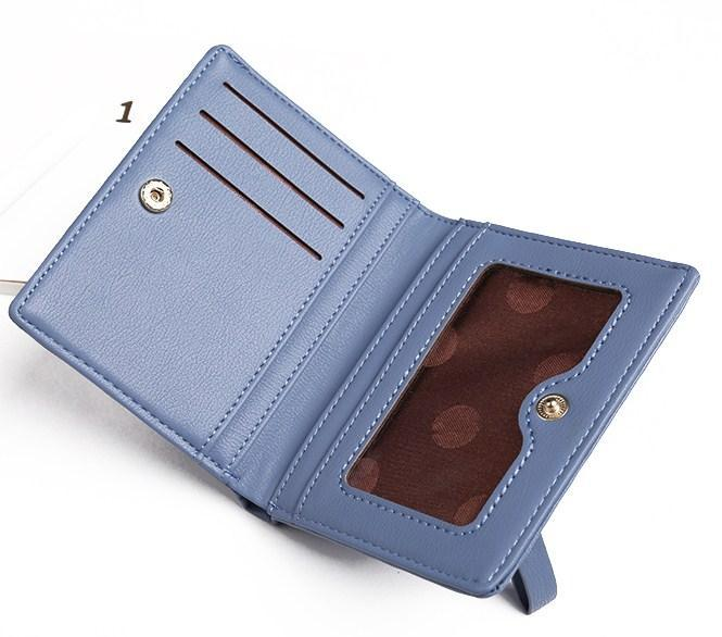 Casual Stylish Blue Modern Minimalist Wallet - Open View