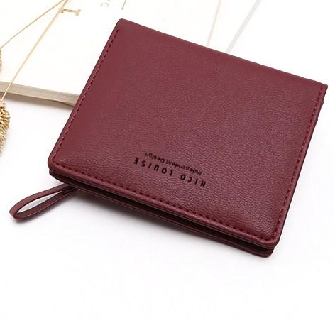 Casual Stylish Red Modern Minimalist Wallet - Front View