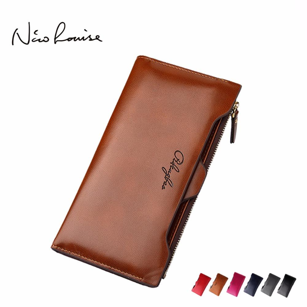 NICO LOUISE Rustic Leather Zipped Wallet