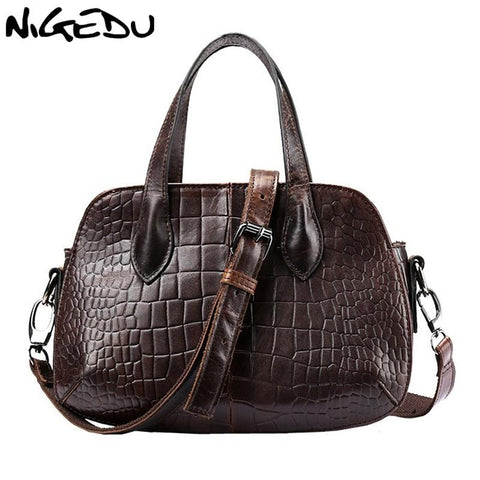 NIGEDU Crocodile Patterned Handbag - BagPrime - Look Your Best with Amazing Bags
