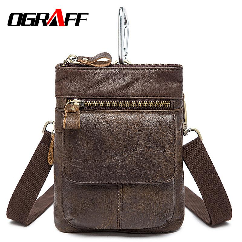 OGRAFF Genuine Leather Waist Bag - BagPrime - Look Your Best with Amazing Bags