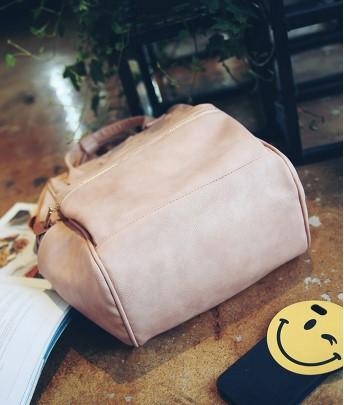 Casual Stylish Pink Chic Backpack- Bottom View