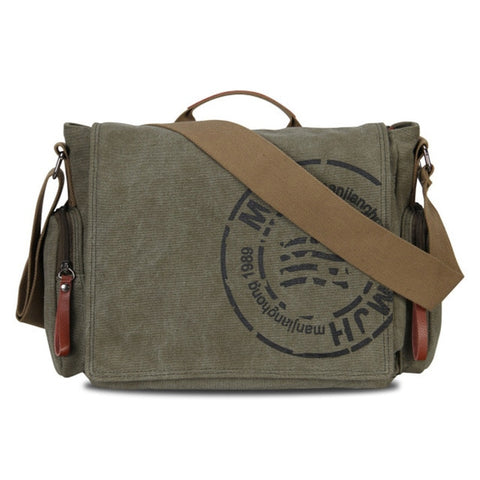 Casual Canvas Messenger Bag