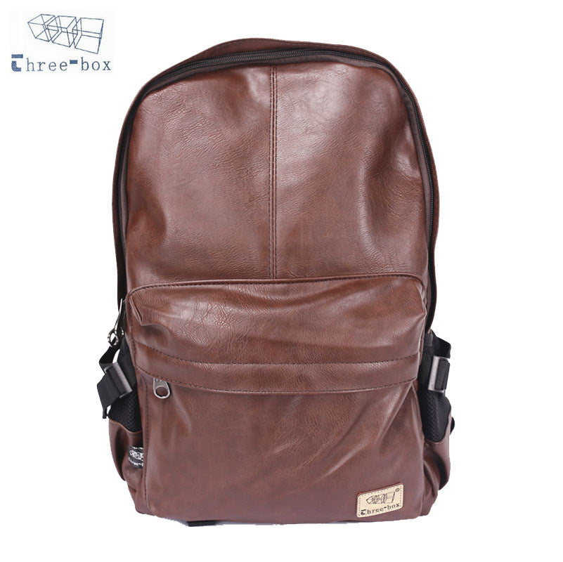 Three-Box Rustic Leather Backpack