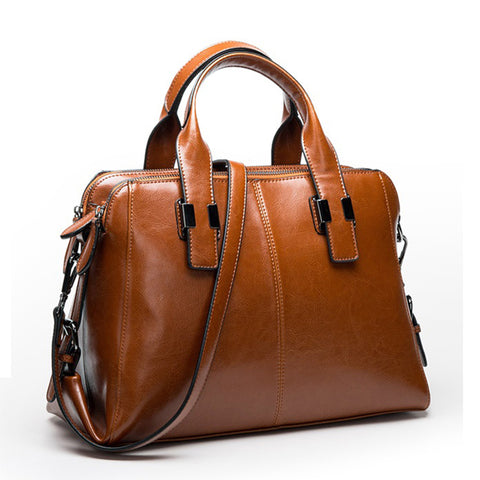 GESUNRY Genuine Leather Handbag