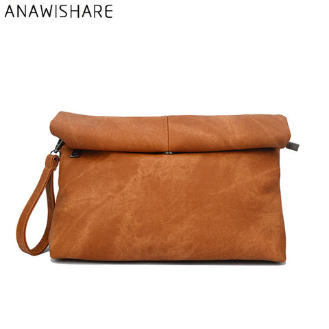ANAWISHARE Soft Leather Crossbody Bag