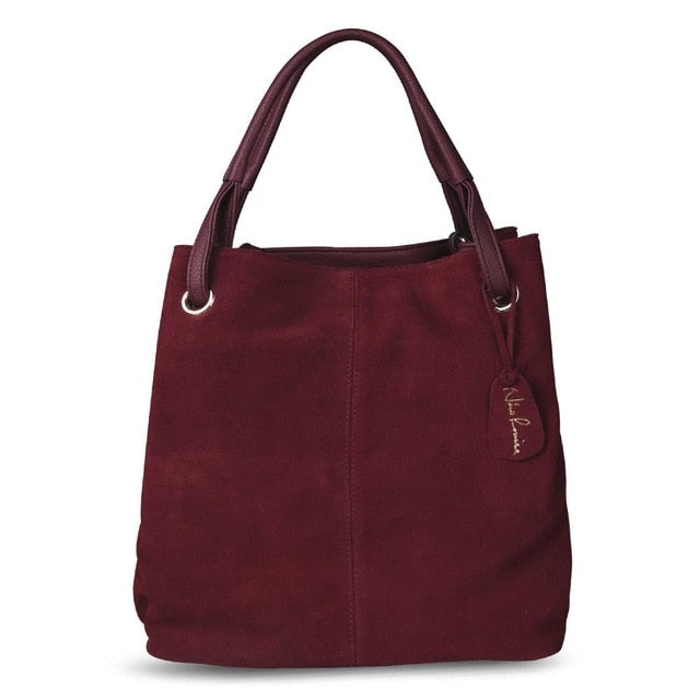 Nico Louise Suede Leather Tote Bag