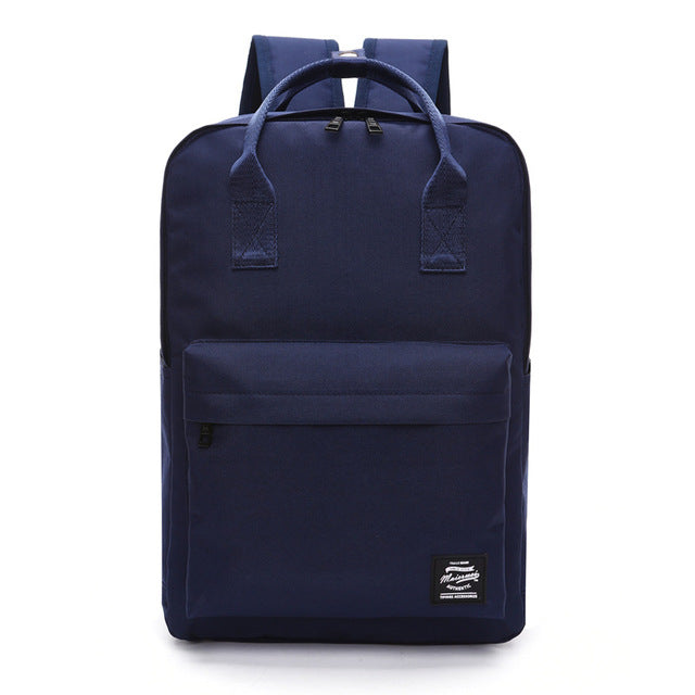 Preppy Chic Canvas Backpack