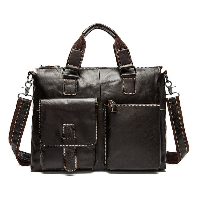 SEVEN SKIN Genuine Leather Business Bag