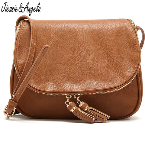 Saddle Messenger Bag with Tassel