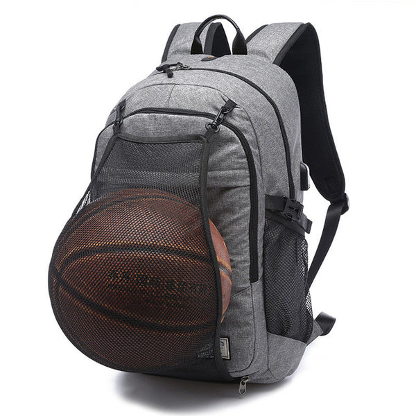 Sports Bag Black Outdoor Fitness Training Bag Basketball Backpack