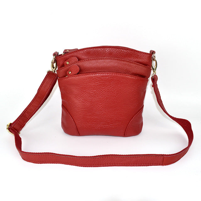 ICEV Genuine Leather Crossbody Bag