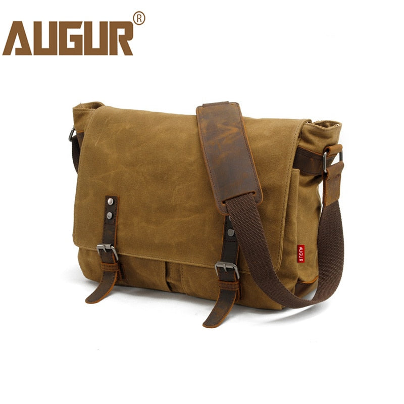 AUGUR Army Inspired Messenger Bag