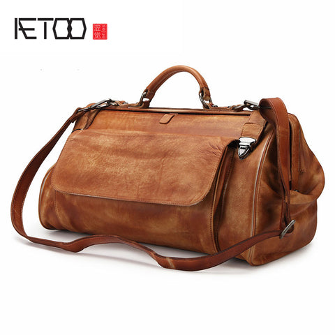 AETOO Genuine Leather Doctor's Travel Bag