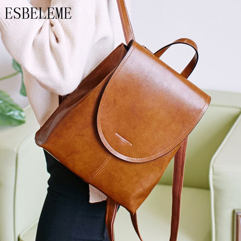 ESBELEME Genuine Leather Backpack