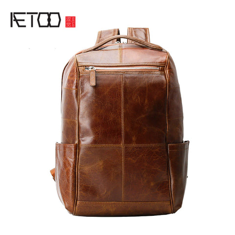 AETOO Genuine Leather Backpack