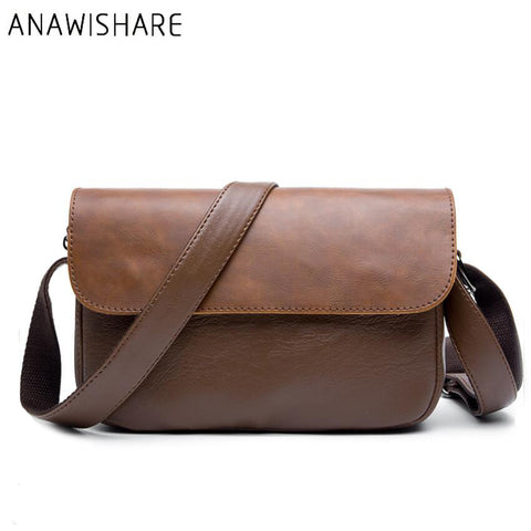 ANAWISHARE Genuine Leather Messenger Bag