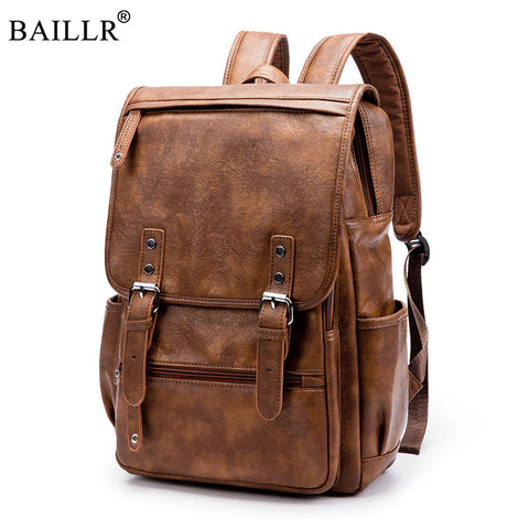 BAILLR Genuine Leather Backpack