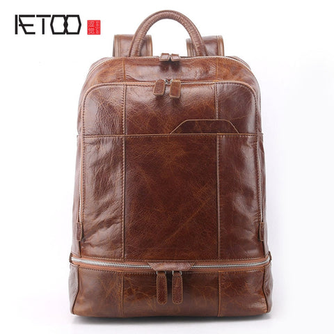 AETOO Rustic Leather Backpack