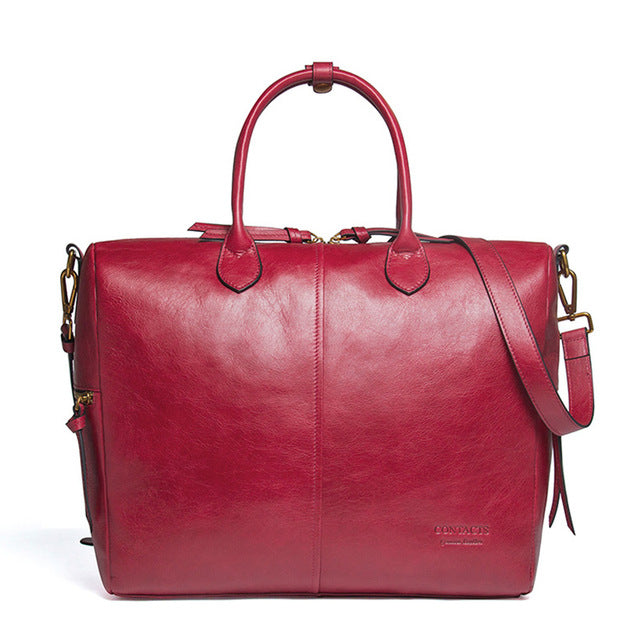 CONTACTS Genuine Leather Satchel Bag