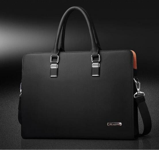 "TOP POWER Genuine Leather 14"" Briefcase"