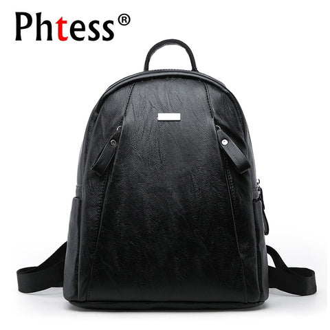 PHTESS Bowler Style Leather Backpack