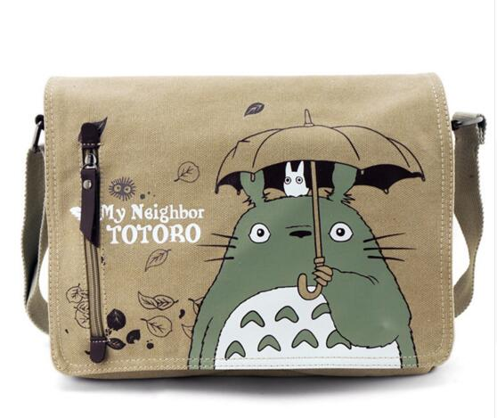 Cute Canvas Messenger School Bag