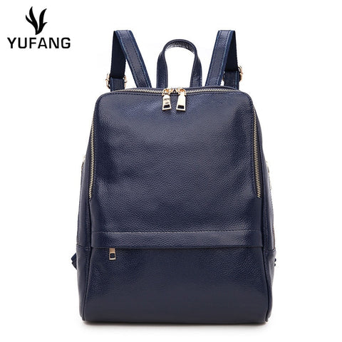 YUFANG Genuine Leather Backpack