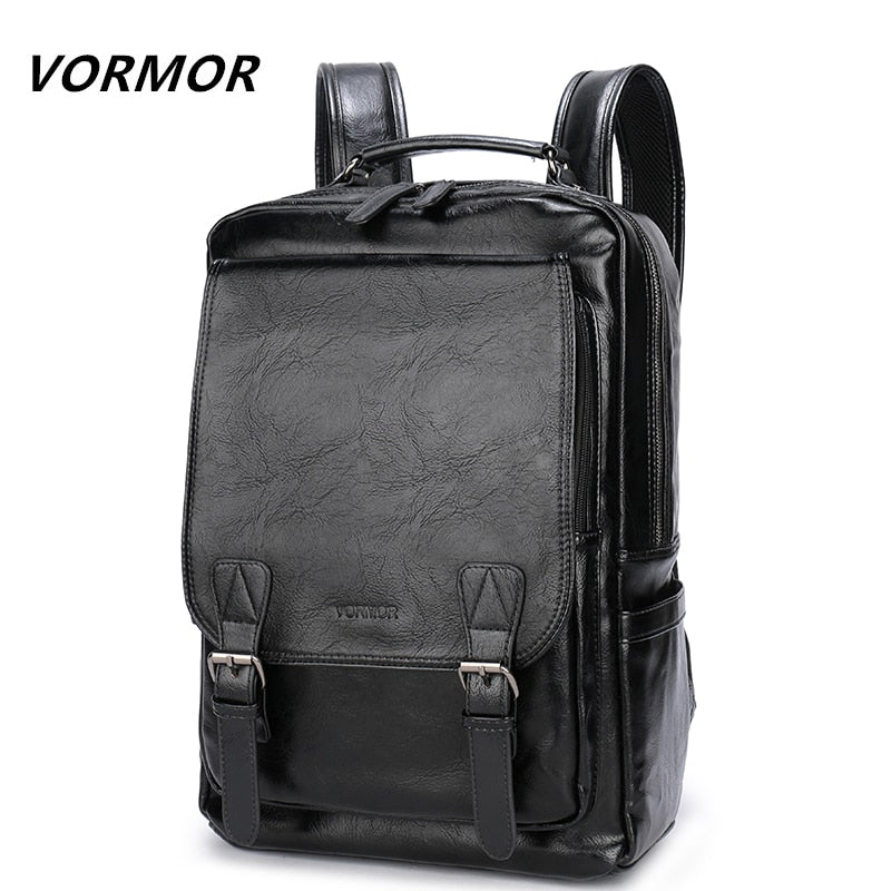 VORMOR Oxford Style Leather Backpack
