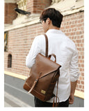 Three-box Vintage Leather Backpack