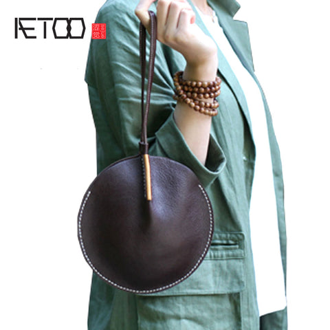AETOO Genuine Leather Handbag Pouch