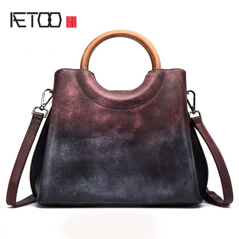 AETOO Mottled Leather Sling Bag